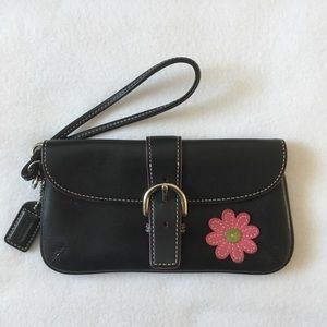 Authentic Coach Black Leather Clutch